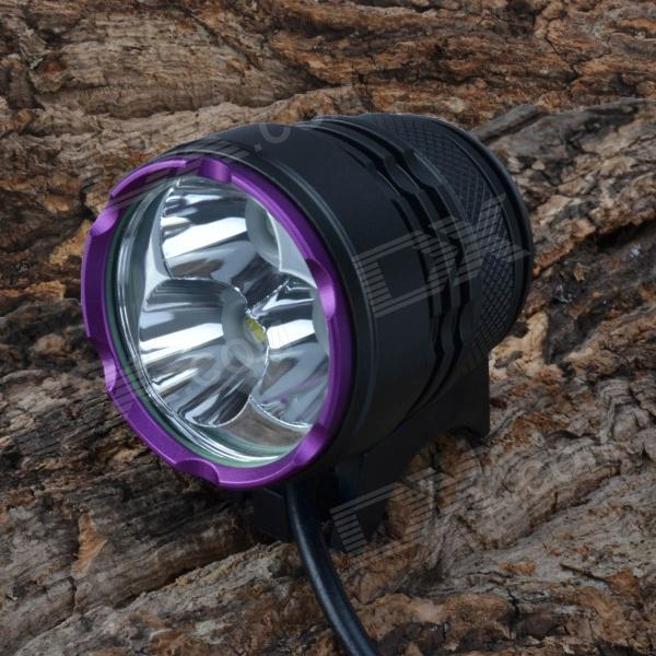 SingFire SF-827 LED 2550lm 3-Mode White Bike / Headlamp - Black + Purple (4 x 18650) fandyfire f 100 4 led 4 mode 2400lm white bike light headlamp black 4 x 18650