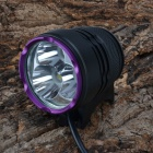 SingFire SF-827 LED 2550lm 3-Mode White Bike / Headlamp - Black + Purple (4 x 18650)