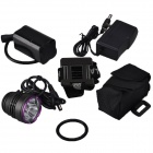 SingFire SF-827 LED 2550lm 3-Mode Blanc Bike / Phare-Noir + Violet (4 x 18650)