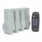 Tai Shen TS-868 US Plug-in Power Sockets with Remote Control Switch - White (4 PCS)