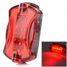 HaiYin Waterproof 5-LED 7-Mode Bike Warning Lamp - Red (2 x AAA)