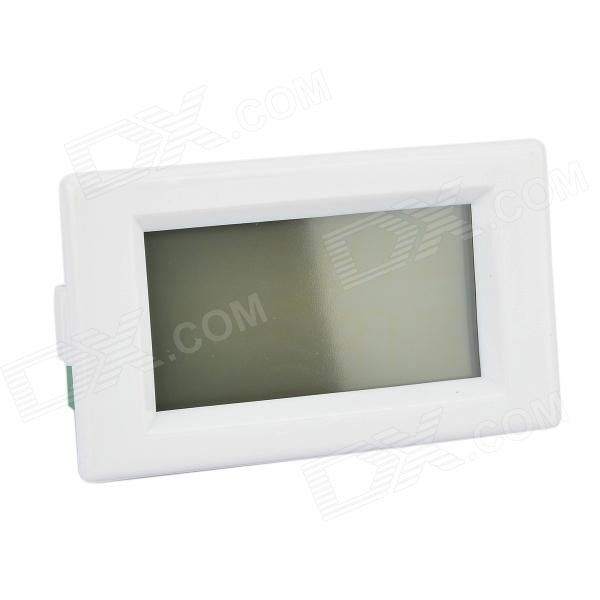 2.2'' LCD Dual-Display Digital AC 80~300V / 0~50A Ampere-voltage Meter - White (AC 220V)