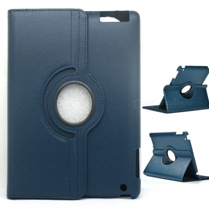 Protective PU Leather 360 Degree Rotation Case for IPAD 2 / 3 / 4 - Blue protective pu leather 360 degree rotation case for ipad 2 3 4 blue