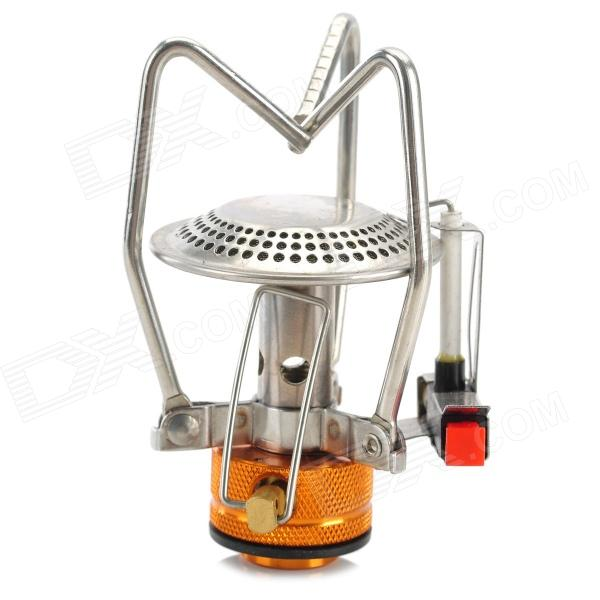 WOTU LT633019 Outdoor Portable Camping Cooking Stove - Silver + Yellow