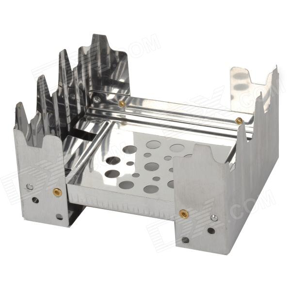 Foldable Solid Fuel Stove - Silver
