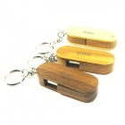 IDOMAX M027 Rotatable Wood + Bamboo USB 2.0 Flash Drive - Wooden (4GB)