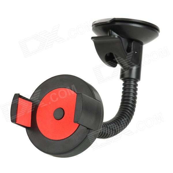 Convenient Universal Car Mounted Suction Cup Holder for Cellphone - Black + Red concept car universal windshield mount holder for iphone samsung cellphone black