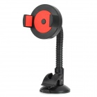 Convenient Universal Car Mounted Suction Cup Holder for Cellphone - Black + Red