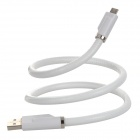 M04 Micro USB Male to USB 2.0 Male Data Sync / Charging Cable for Android Phones - White (60cm)