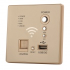 LS86-301 Wall-mounted USB Powered WiFi Router - Golden