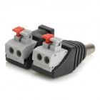 Male + Female DC Power Converter Connector Adapters w/ Terminal Blocks for CCTV Camera (Pair)