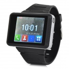 "ZF03 GSM Wrist Watch Phone w/ 1.77"" Screen, Quad-band and Bluetooth V2.1 - Black + Silver"