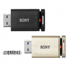Genuine Sony 8GB Micro Vault Mach USB 3.0 Flash Drive USM8GQX Black