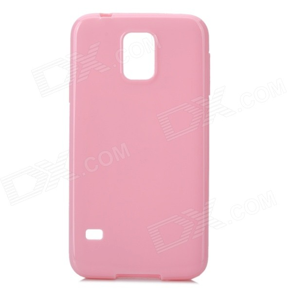 Protective Silicone Back Case Cover for Samsung Galaxy S5 - Deep Pink