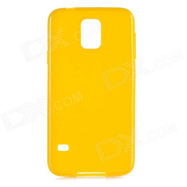 Protective Silicone Back Case Cover for Samsung Galaxy S5 - Yellow