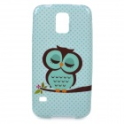 Cute Cartoon Owl Pattern TPU Back Case for Samsung S5 - Green