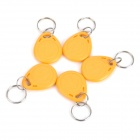 ABS Door Access ID Card Key Tags - Yellow (5 PCS)