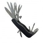 Outdoor Camping Multifunction Steel Knife w/ Saw / Scissors / Pliers + More - Black + Silver