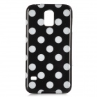 Sweet Polka Dot Pattern Plastic Back Case for Samsung S5 - Black + White