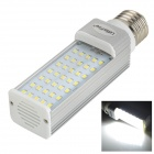 LetterFire E27 7W 6000K 550lm 35-SMD 2835 LED-Lampen-Weiß-Silber + Weiß (85 ~ 265V)