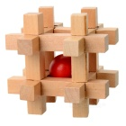 Buy Bead-in-Cage Wooden Puzzle Brain Teaser IQ Toy