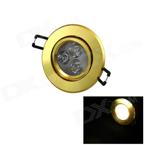 IN-Color YS-3X1W 3W 110lm 3000K 3-LED Champagne Warm White Spotlight - (AC 85~265V)
