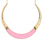 Women's Fashionable Tribal Style Zinc Alloy Necklace - Golden + Light Pink