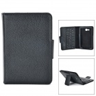 Sm001 pu case w/ detachable usb bluetooth v3.0 57-key keyboard for samsung tab 3 lite t111 - black
