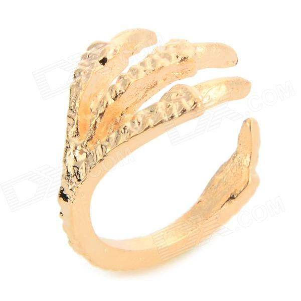 LX-005 Eagle Claw Style Magnesium Alloy Tail Ring - Golden claw of dragon style rings golden bronze 3 pcs