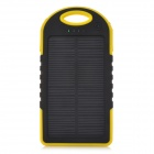 LSON Portable 5V 5000mAh Solar Charger w/ Dual USB / LED Indicator - Yellow + Black + White