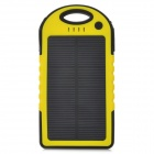 LSON Portable 5V 5000mAh Solar Charger w/ Dual USB / LED Indicator - Black + Yellow