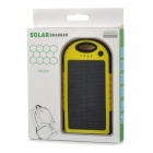 Portable 5V 5000mAh Solar Charger - Black + Yellow