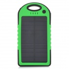LSON Portable 5V 5000mAh Solar Charger w/ Dual USB / LED Indicator - Green + Black