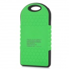 Portable 5V 5000mAh Solar Charger w/ Dual-USB Indicator - Green+Black