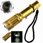 ZHISHUNJIA ZSJ-T28 1000lm 5-Mode White Flashlight - Golden (1 x 18650)