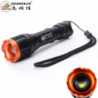 ZHISHUNJIA LED 1000lm 5-Mode White Zooming Flashlight - Black (1 x 18650)