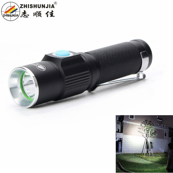 ZHISHUNJIA Mini LED 6500K 200lm 3-Mode White Light Flashlight - Black (1 x 14500) klarus mi7 ipx8 mini led flashlight torch power by aa or 14500 battery cree xp l hi v3 lamp 700 lumens lantern smart indicator