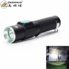 ZHISHUNJIA Mini LED 6500K 200lm 3-Mode White Light Flashlight - Black (1 x 14500)