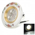 XIANQIN TC-D-03-002-Z 2W 360lm 6000K 3-LED White Ceiling Lamp - White + Golden (AC 100~240V)