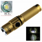 ZHISHUNJIA Mini Cree XP-E R2 6500K 200lm 3-Mode White Light Flashlight - Golden (1 x 14500)