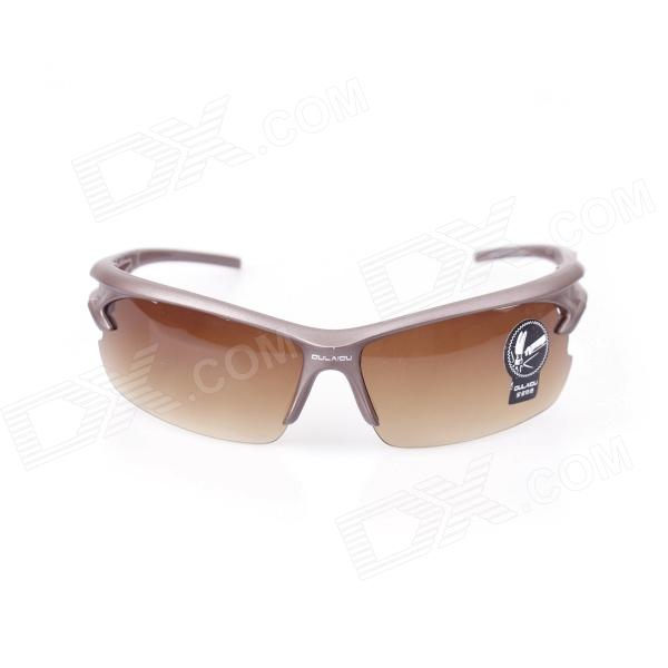 OULAIOU Outdoor Bicycle Explosion-proof Sunglasses - Dark Brown + Bronze