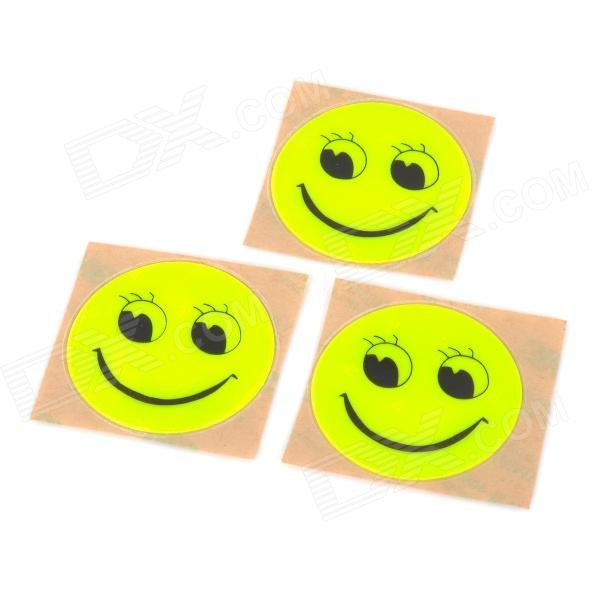 Reflective Waterproof Decoration Sticker - Fluorescent Yellow (3 PCS)