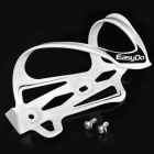 EASYDO ED-023 Outdoor Aluminum Alloy Bike Cycling Water Bottle Holder - White + Black