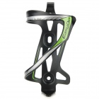 EASYDO SD-5 Outdoor Aluminum Alloy Bike Cycling Water Bottle Holder - Black + Green