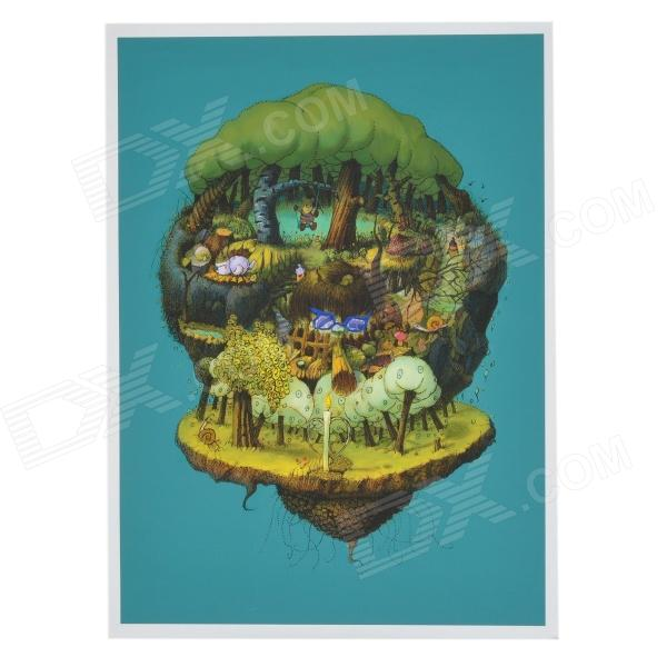 PH-003-1 Cartoon Fantasy Magic Forest Decoration Oil Painting (44 x 60cm)