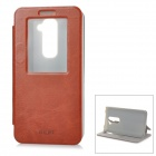 MOFI PH0005 Protective PU Leather Case Cover Stand for LG G2 - Brown