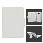 Sm002 pu case w/ detachable usb bluetooth v3.0 57-key keyboard for samsung tab 3 lite t111 - white