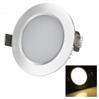 HUGEWIN HTD686S 5W 300lm 3000K 10-5730 plafond blanc chaud LED SMD Lampe - Argent (CA 85 ~ 265V)