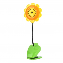 SM007 Sunflower Style Wireless Wi-Fi 0.3MP CMOS Camera w/ TF / 11-IR LED - Green + Orange
