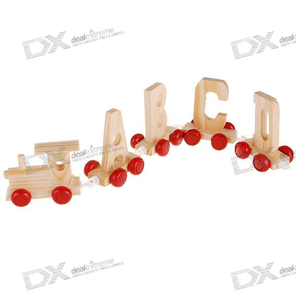wooden letter train 27 piece pack